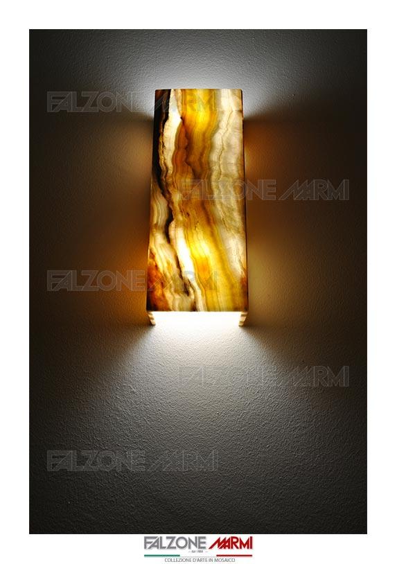 Applique da parete in marmo onice