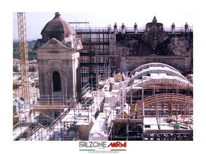 Il cantiere per il restauro della Cattedrale di Noto SR