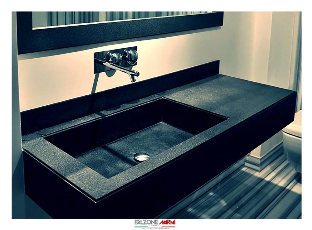 Realizzazione lavabo in pietra lavica