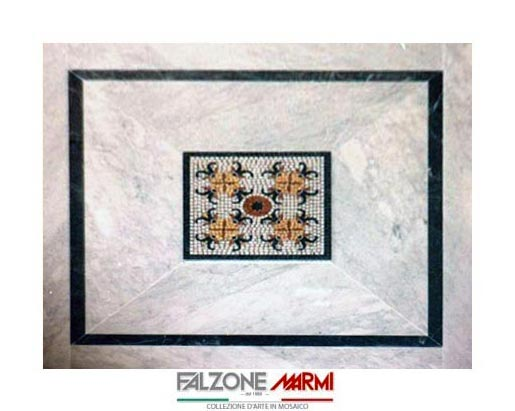 Mosaico in marmo - Bianco