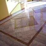 Pavimentazione per androne in marmo