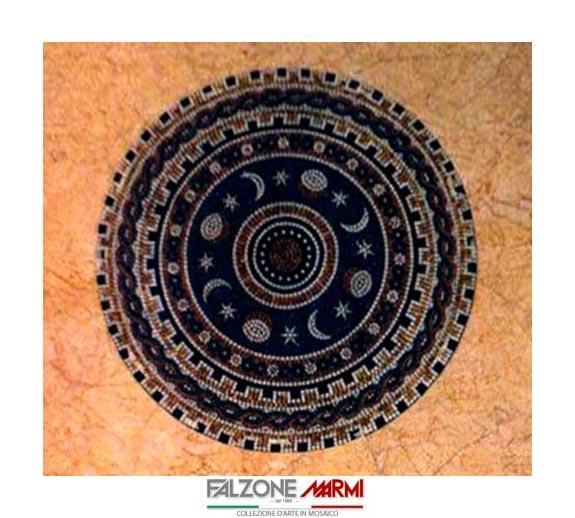 Mosaico in marmo - Rosa