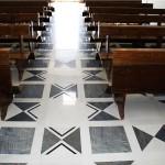Pavimentazione in marmo pregiato a disegno