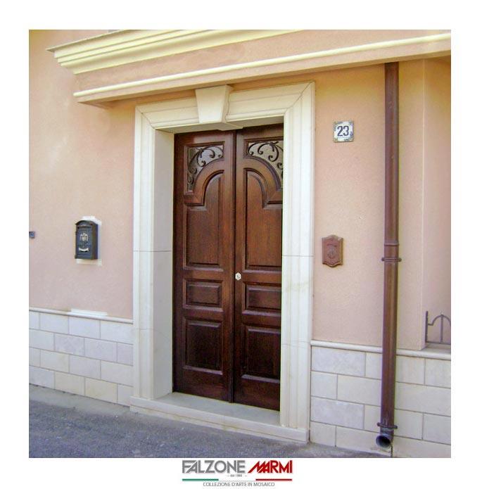 Portale d 39 ingresso in pietra di comiso falzone marmi - Pietra per soglie finestre ...