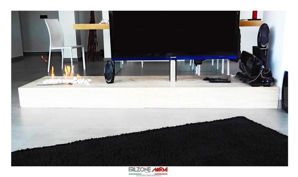 Base tv in marmo in stile moderno